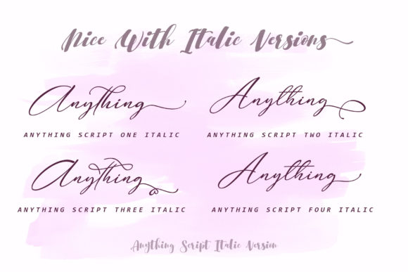 Print on Demand: Anything Script Script & Handwritten Font By aldedesign - Image 10