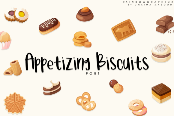 Print on Demand: Appetizing Biscuits Script & Handwritten Font By RainbowGraphicx
