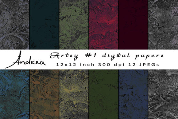Print on Demand: Artsy 1 Digital Papers Graphic Textures By Andrea Kostelic