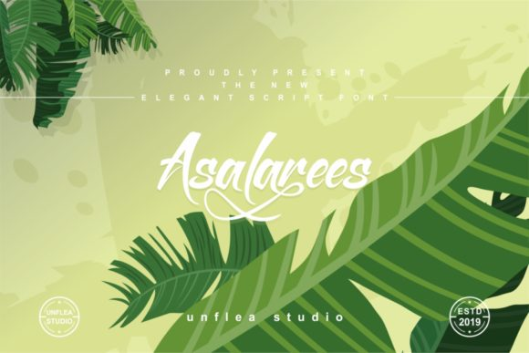 Print on Demand: Asalarees Script & Handwritten Font By Unflea Studio