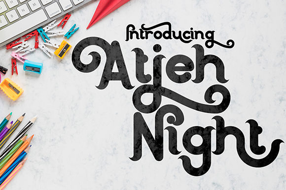 Print on Demand: Atjeh Night Display Font By Black Lotus