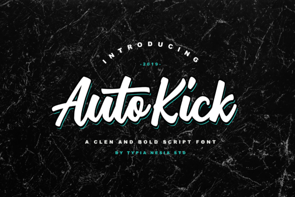 Print on Demand: Auto Kick Script & Handwritten Font By Typia Nesia