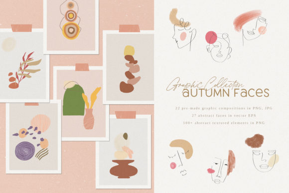 Print on Demand: Autumn Faces Creative Graphics Graphic Illustrations By Primafox Design