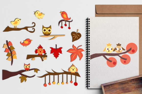 Print on Demand: Autumn Fall Graphic Illustrations By Revidevi