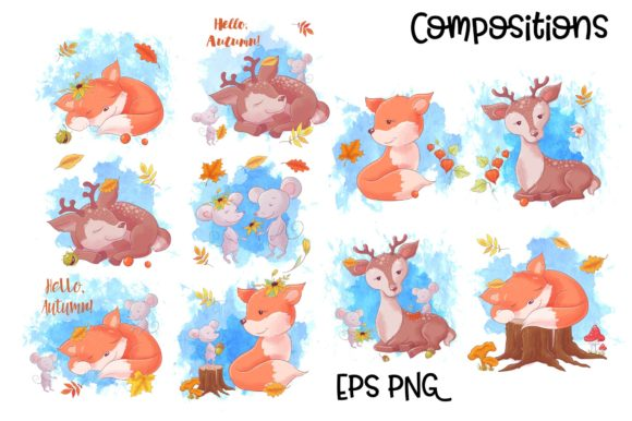 Autumn Forest Vector Clip Art Graphic By nicjulia Image 2