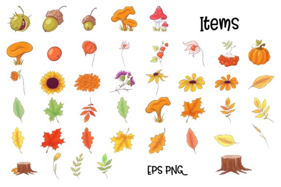 Autumn Forest Vector Clip Art Graphic By nicjulia Image 4