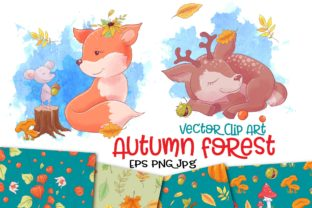 Autumn Forest Vector Clip Art Graphic By nicjulia