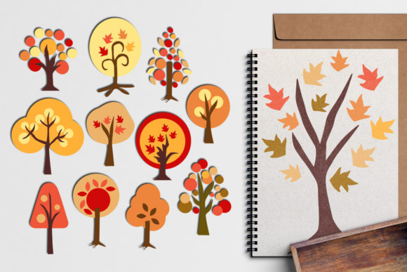 Print on Demand: Autumn Trees Graphic Illustrations By Revidevi - Image 1