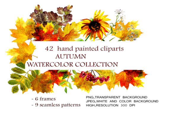 Autumn Watercolor Collection Graphic By kakva Image 1
