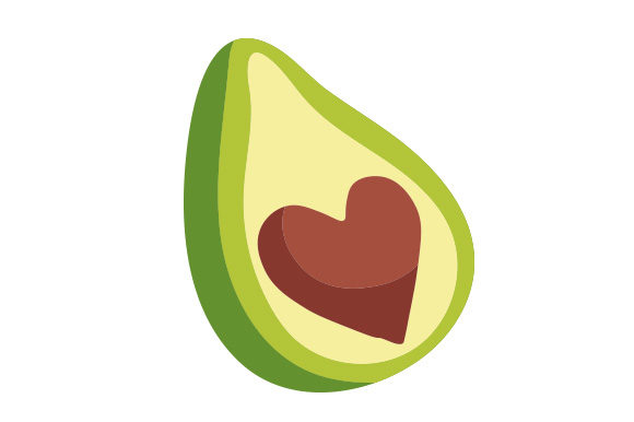 Download Free Avocado With The Pit In The Shape Of A Heart Svg Cut File By for Cricut Explore, Silhouette and other cutting machines.