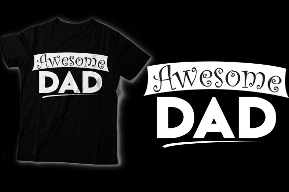 Download Free Awesome Dad Graphic By Shirtgraphic Creative Fabrica for Cricut Explore, Silhouette and other cutting machines.