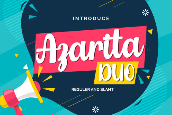 Print on Demand: Azarita Duo Script & Handwritten Font By Vunira