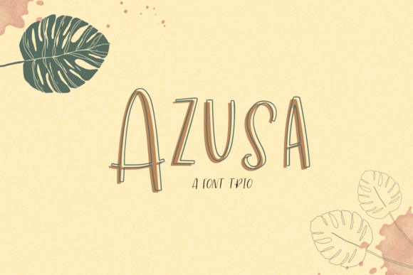 Print on Demand: Azusa Sans Trio Sans Serif Font By BeckMcCormick