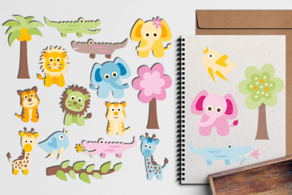 Print on Demand: Baby Animals Graphic Illustrations By Revidevi