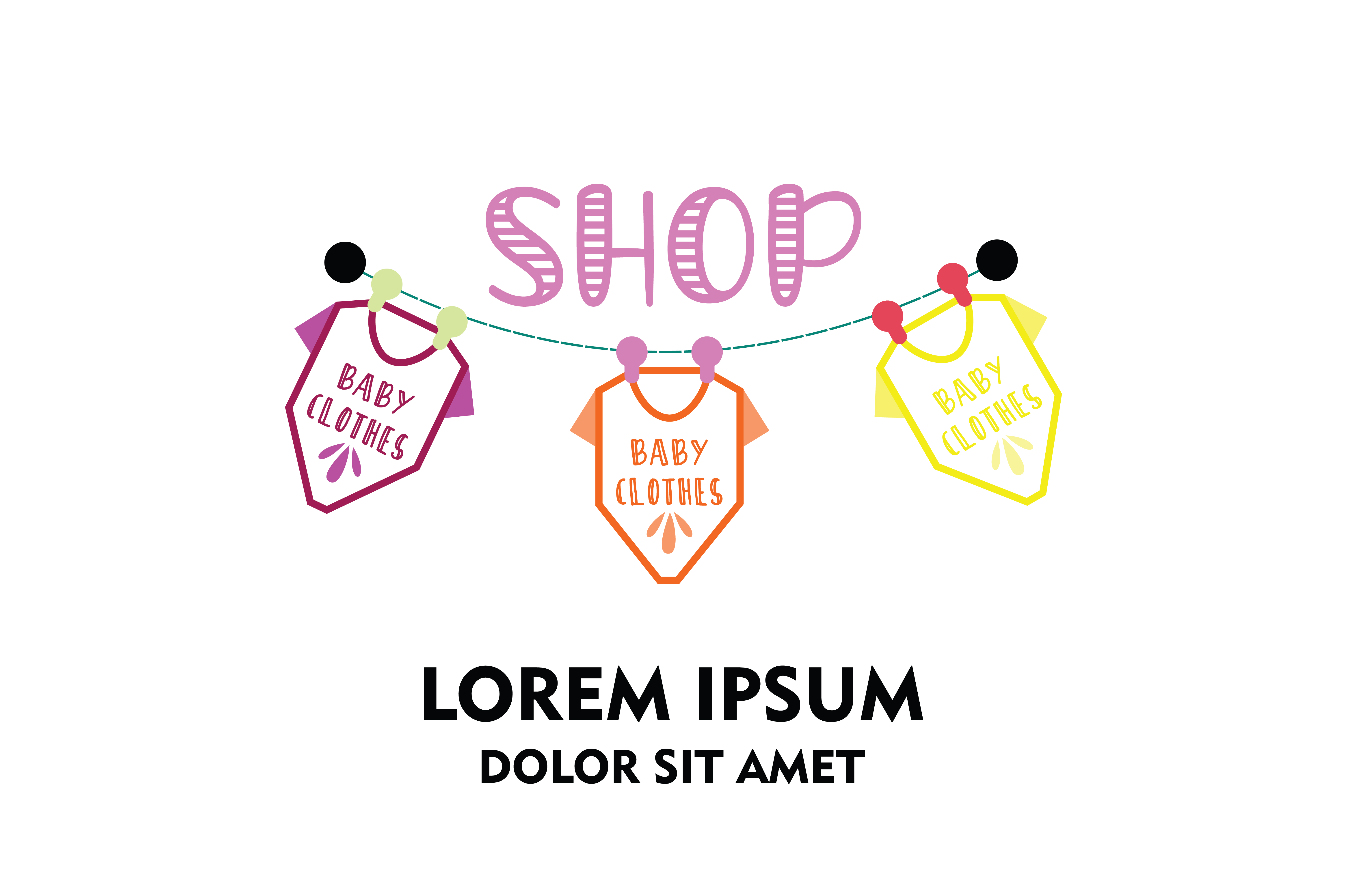 Download Free Baby Clothes Store Company Logo Vector Graphic By Yuhana for Cricut Explore, Silhouette and other cutting machines.