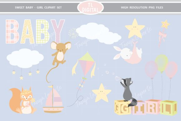 Baby Girl Clipart Set 26 Graphics Graphic Illustrations By TL Digital