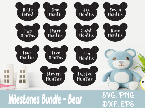 Baby Milestone - Bear Bundle Graphic Crafts By ElsieLovesDesign - Image 1