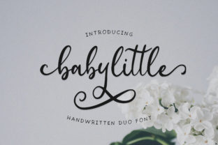 Babylittle Duo Font By Juncreative