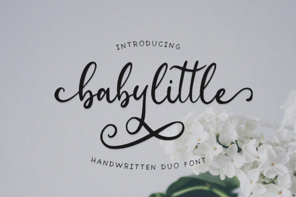 Print on Demand: Babylittle Duo Script & Handwritten Font By Juncreative - Image 1