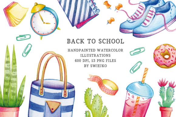Print on Demand: Back to School Illustration Set Graphic Illustrations By swiejko