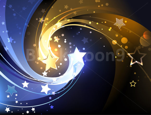 Background with Two Contrasting Stars Graphic By Blackmoon9 Image 1