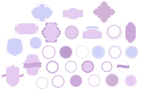Print on Demand: Badges & Frames SVG Cut Files - 30 Items Graphic Crafts By tatiana.cociorva - Image 2