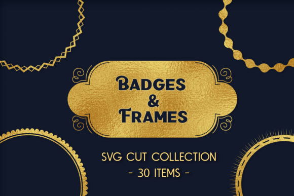 Print on Demand: Badges & Frames SVG Cut Files - 30 Items Graphic Crafts By tatiana.cociorva - Image 5