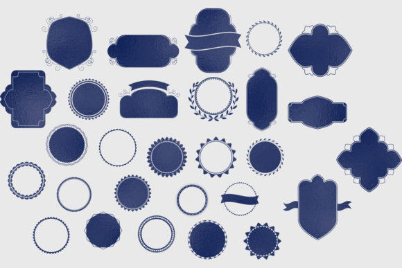 Print on Demand: Badges & Frames SVG Cut Files - 30 Items Graphic Crafts By tatiana.cociorva - Image 1