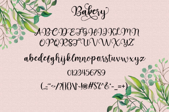 Bakery Font By star studio Image 10