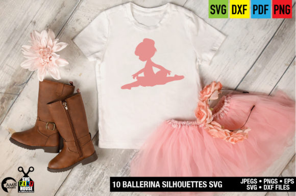 Download Free Ballerina Silhouettes Graphic By Ambillustrations Creative Fabrica for Cricut Explore, Silhouette and other cutting machines.