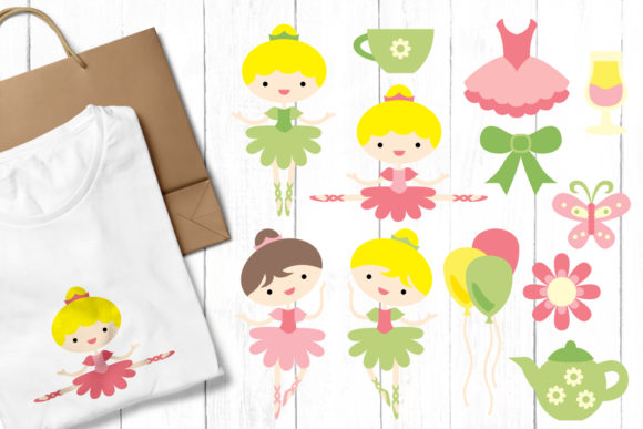 Print on Demand: Ballerina Graphic Illustrations By Revidevi - Image 1