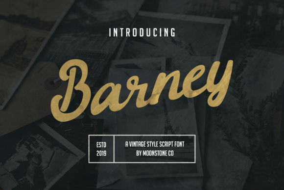 Print on Demand: Barney Script & Handwritten Font By Moonstone Co - Image 1