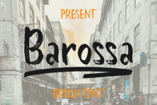 Print on Demand: Barossa Display Font By bandithandmade17