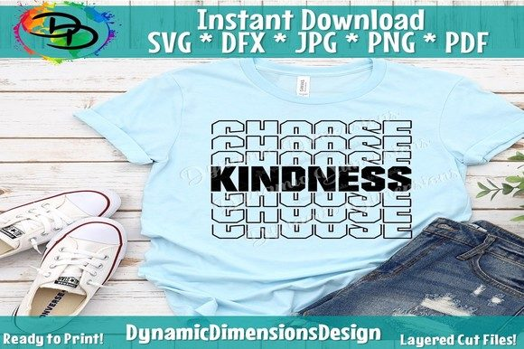 Download Free Be Kind Svg Cut File Graphic By Dynamicdimensions Creative Fabrica for Cricut Explore, Silhouette and other cutting machines.