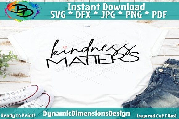 Print on Demand: Be Kind Graphic Crafts By dynamicdimensions