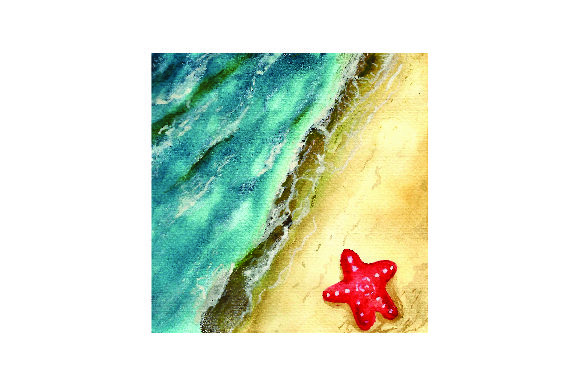 Beach in Watercolor Nature & Outdoors Craft Cut File By Creative Fabrica Crafts