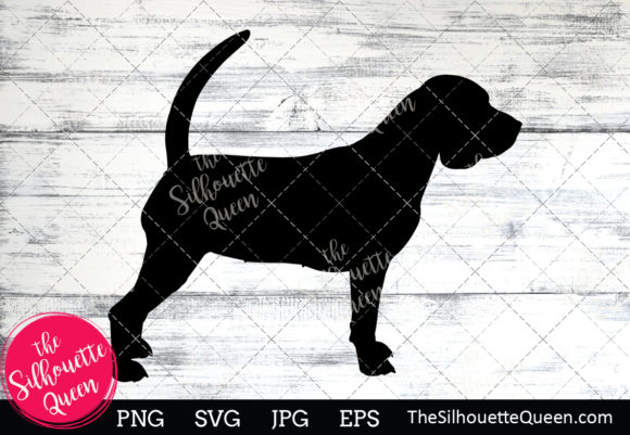 Download Free Beagle Dog Silhouette Graphic By Thesilhouettequeenshop for Cricut Explore, Silhouette and other cutting machines.