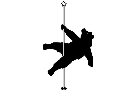 Download Free Bear Pole Dancing Svg Cut File By Creative Fabrica Crafts for Cricut Explore, Silhouette and other cutting machines.