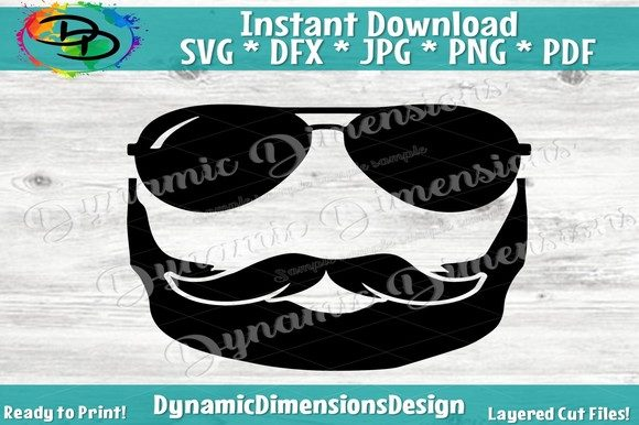 Download Free Bearded Man With Sunglasses Grafik Von Dynamicdimensions for Cricut Explore, Silhouette and other cutting machines.