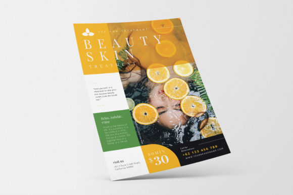 Beauty Spa Promotion AI and PSD Flyer Graphic Print Templates By alexacrib83
