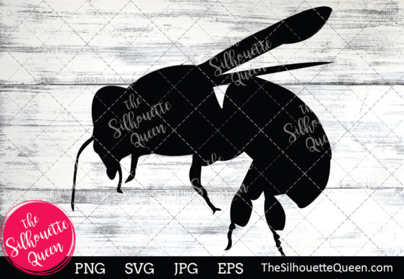 Download Free Bee Silhouette Graphic By Thesilhouettequeenshop Creative Fabrica SVG Cut Files