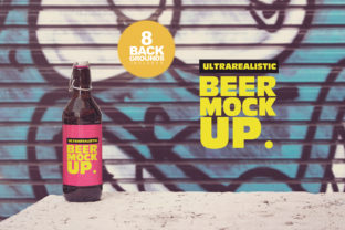 Beer Mockup Background 50cl/16.9oz Graphic By SmartDesigns