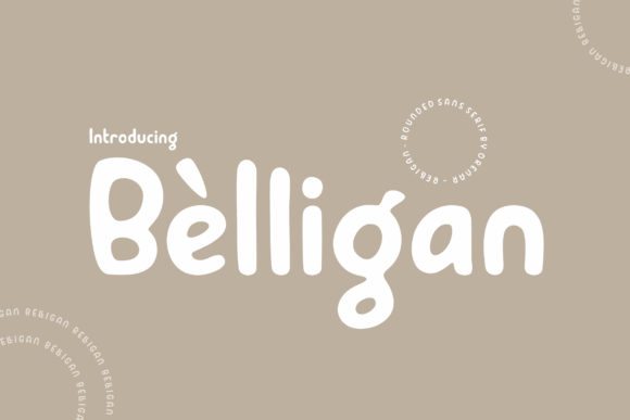Print on Demand: Belligan Sans Serif Font By Orenari