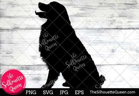 Download Free Bernese Mountain Dog Silhouette Graphic By for Cricut Explore, Silhouette and other cutting machines.