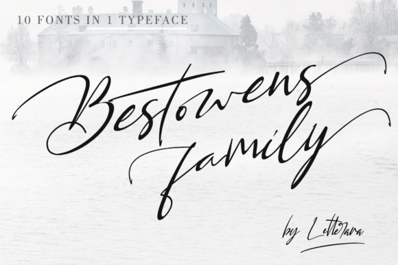 Print on Demand: Bestowens Family Script & Handwritten Font By thomasaradea