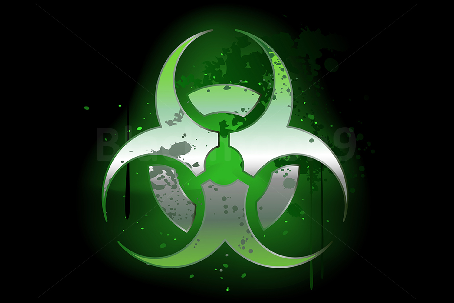 Download Free Biohazard Symbol On A Dark Background Graphic By Blackmoon9 for Cricut Explore, Silhouette and other cutting machines.