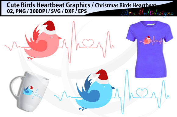 Bird Heartbeat Christmas Graphic By Arcs Multidesigns