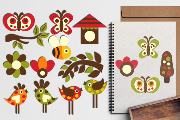 Print on Demand: Birds and Butterflies Graphic Illustrations By Revidevi