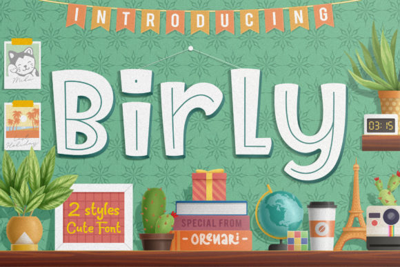 Print on Demand: Birly Display Font By Orenari