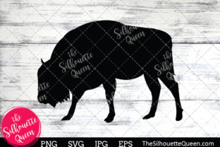 Download Free Bison Silhouette Graphic By Thesilhouettequeenshop Creative for Cricut Explore, Silhouette and other cutting machines.